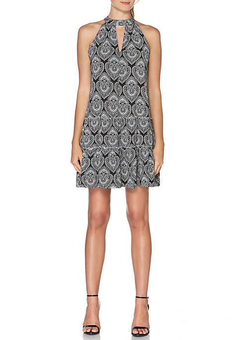Laundry by Shelli Segal Sleeveless Printed Mock Neck