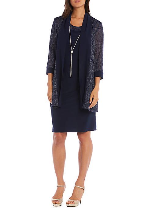 2-Piece Sheer Jacket Dress