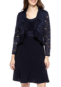 Lace Jacket Dress