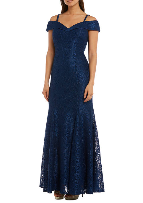 RM Richards Off the Shoulder Lace Gown