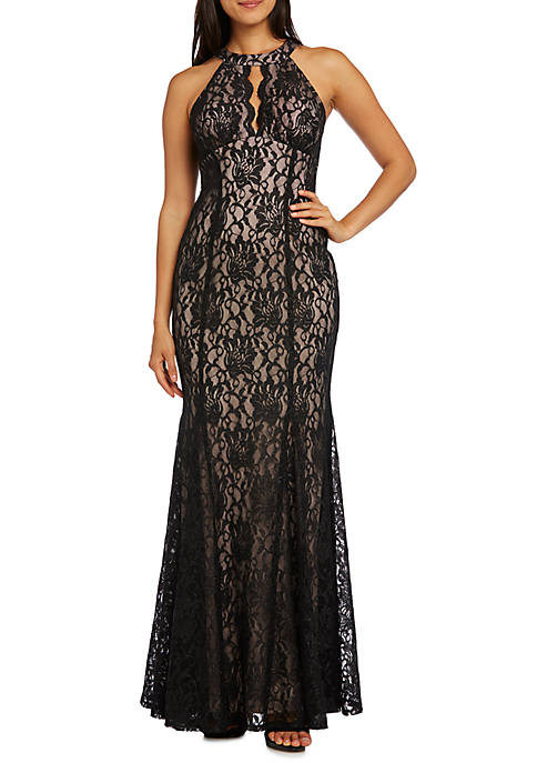RM Richards Womens Keyhole Front Social Occasion Lace