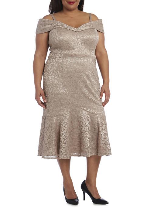 Plus Size Off the Shoulder Cocktail Dress