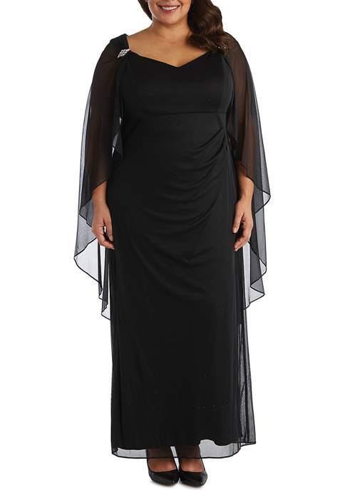R & M Richards Plus Size Long Matte