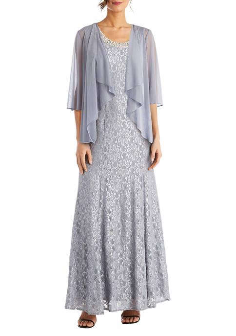 Womens Flyaway Sheer Jacket Dress