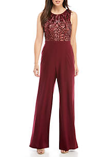 Sequin Bodice Jumpsuit