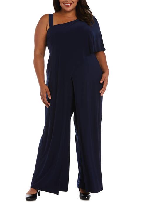 R & M Richards Plus Size Jumpsuit with