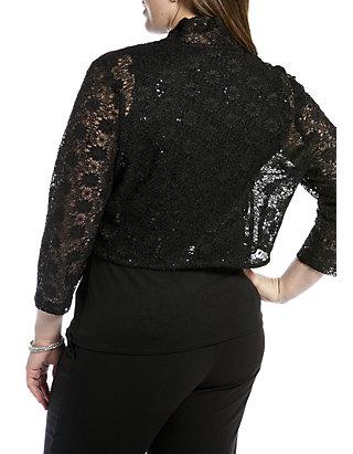 c0cf7bc9 RM Richards Plus Size Long-Sleeve Lace Shrug | belk