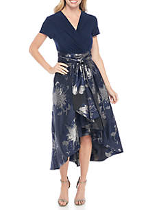 Short Sleeve Surplus Top Full Skirt Dress