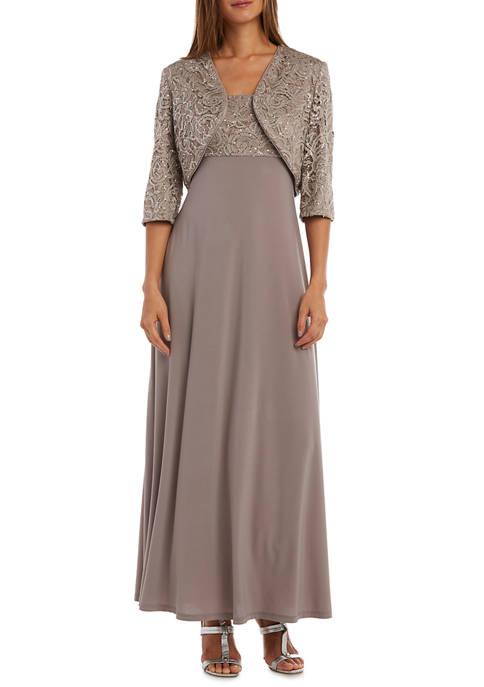 Womens Sequin Lace Jacket Dress