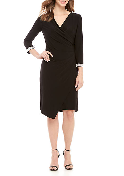 RM Richards Long Sleeve Wrap Dress