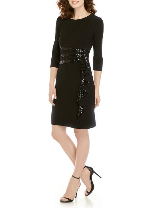 Ruffle Cascade Short Dress