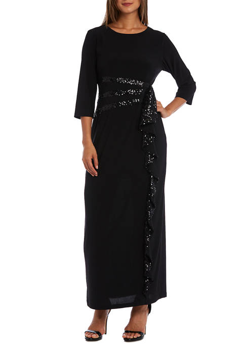 RM Richards Petite Cascade Long Dress