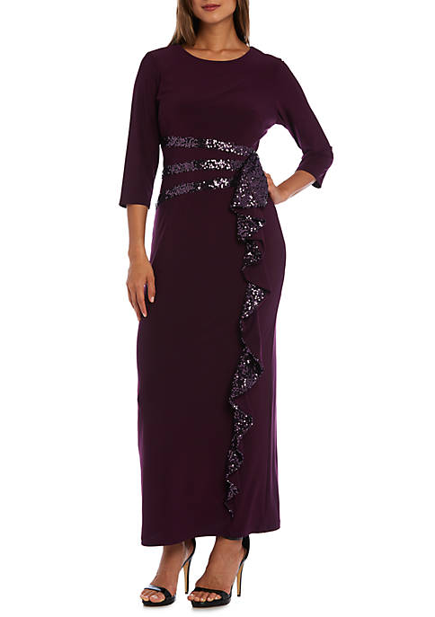 Womens Long Beaded Gown