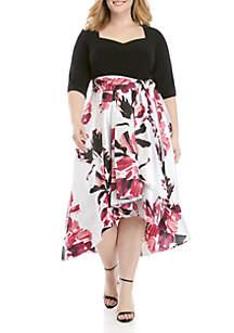 7f35c550fe3 ... RM Richards Plus Size High Low Party Dress