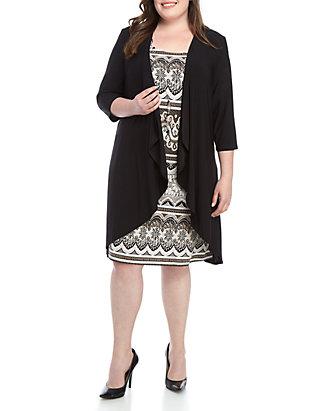 Plus Size Jacket Dress Set