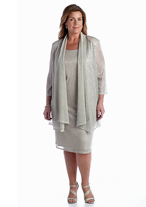 RM Richards Plus Size Jacket Dress