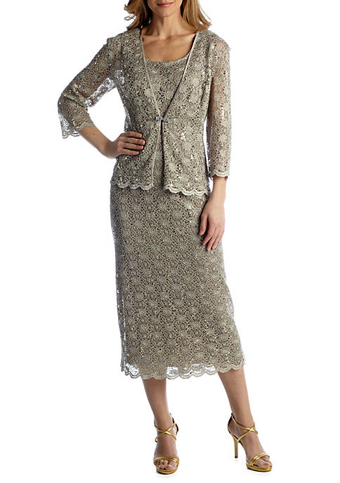 Womens 3/4 Sleeve Jacket Dress