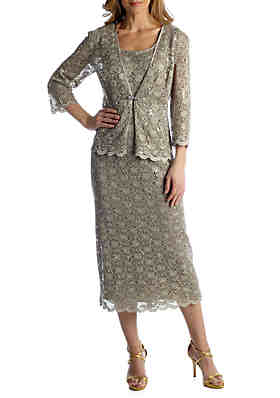 a9d74995de9 RM Richards Three-Quarter Sleeve Jacket Dress ...