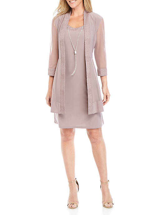 R & M Richards Mesh Jacket Dress