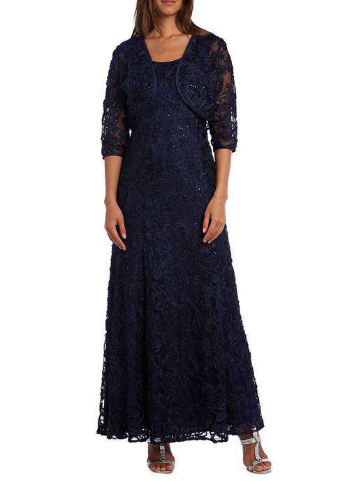 RM Richards Petite Soutache Dress and Bolero Jacket