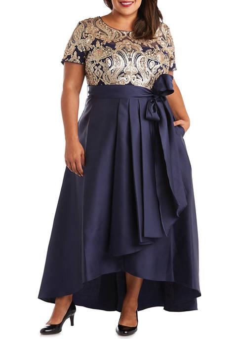 R & M Richards Plus Size Embellished Sequin