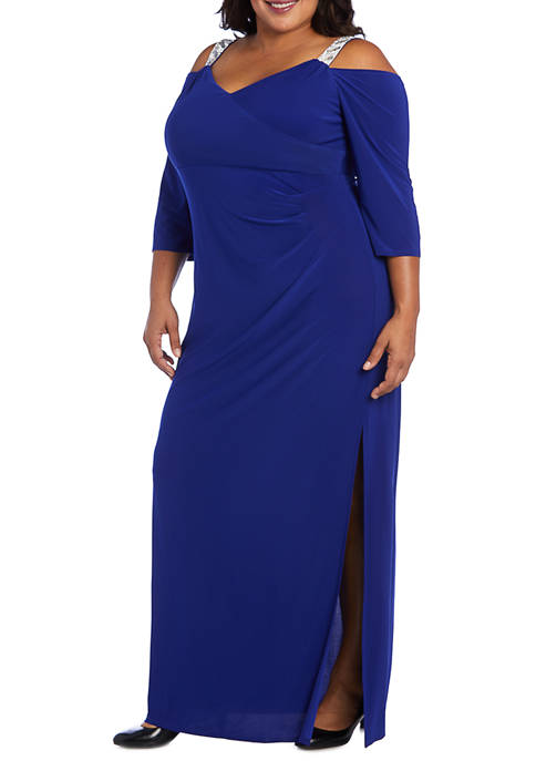 R & M Richards Plus Size Cold Shoulder