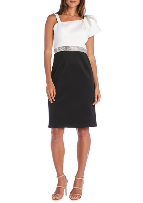 RM Richards Petite Color Block Short Dress