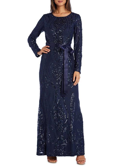 Womens Sequin Open Back Dress