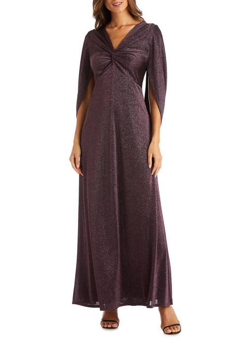 Womens Draped Back Sleeves Dress
