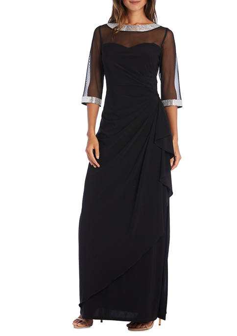RM Richards Petite Illusion Dress