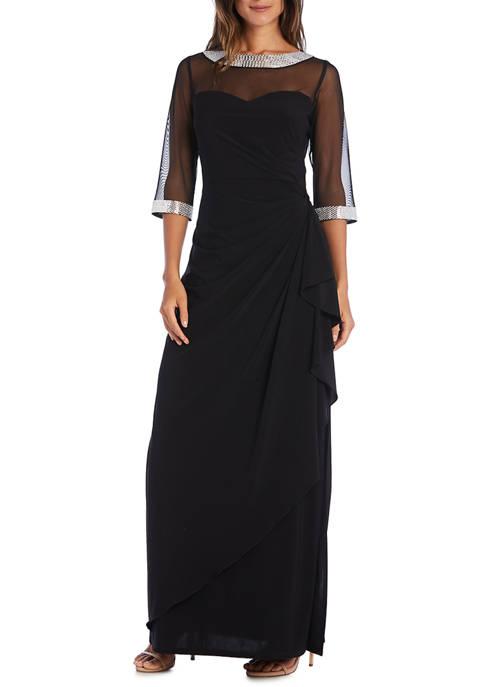 Womens Lace Cold Shoulder Dress