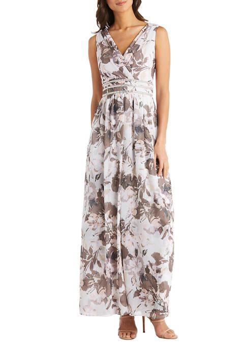 Womens Long Printed Wrap Overskirt Dress