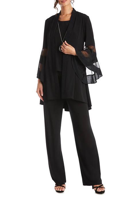 3 Piece Elvira Sleeve Duster Pant Set