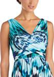 Womens Border Print Maxi Dress