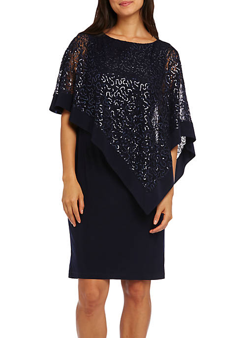 Womens Lace Poncho Dress