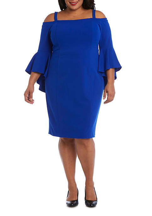 R & M Richards Plus Size Off Shoulder