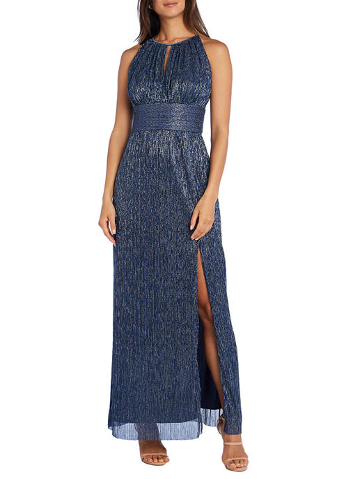 R & M Richards Metallic Knit Gown