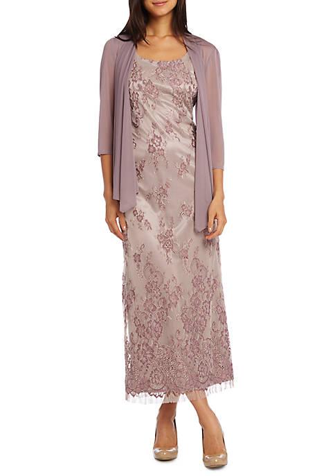 Chiffon Lace Jacket Dress