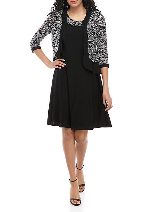 Womens Lace Jacket Dress