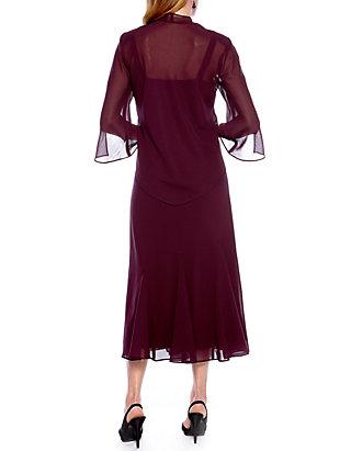 e834572ee14 RM Richards Sheer Beaded Jacket Dress RM Richards Sheer Beaded Jacket Dress