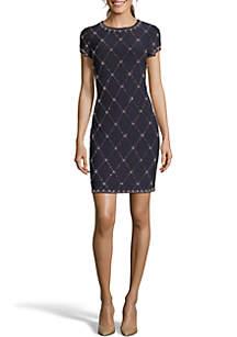 Diamond Stud Short Dress