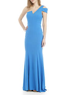Betsy & Adam One Shoulder Gown