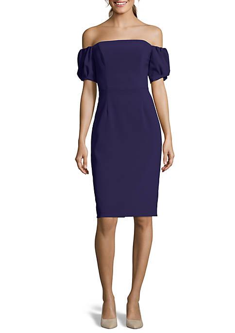 Off-The-Shoulder Mid Dress