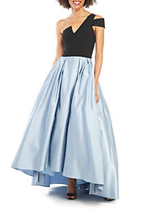... Betsy   Adam One Shoulder 2 Tone High Low Ball Gown ac80eac69bb4