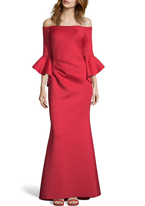 Long Off the Shoulder Gown
