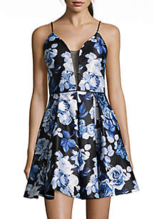 Short Floral Cocktail Dress