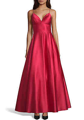 60bdc9b8893 Betsy   Adam Long Solid Ball Gown ...