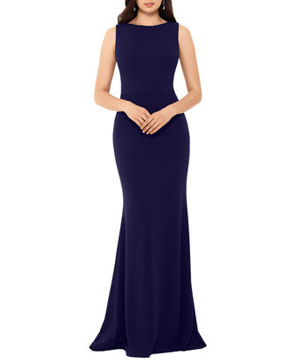 Betsy /& Adam Womens Long Ruffle Back Dress