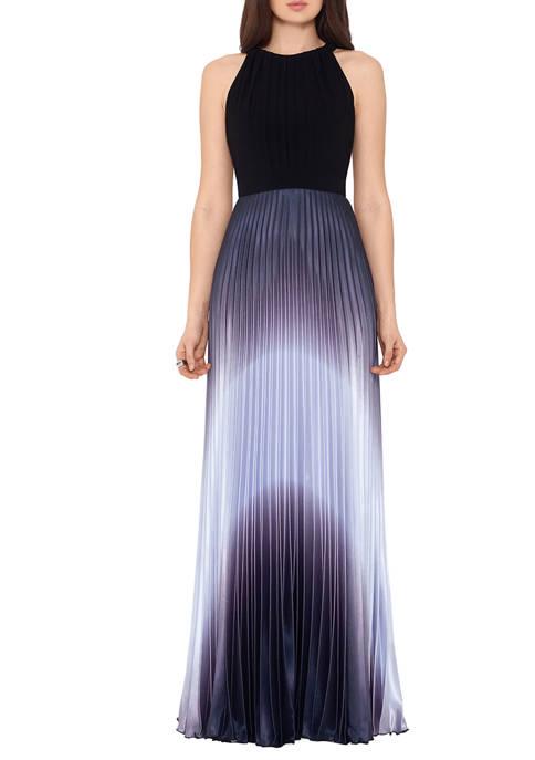 Betsy & Adam Womens Halter Dip Dye Skirt