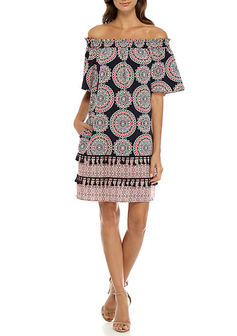 Maggy London Off-the-Shoulder Shift Dress